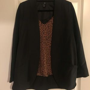H&M Black Unlined Blazer